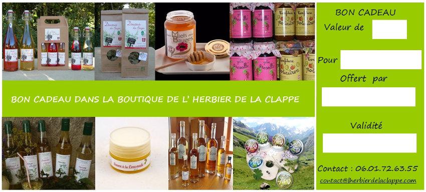 Les produits de L'Herbier de la Clappe
